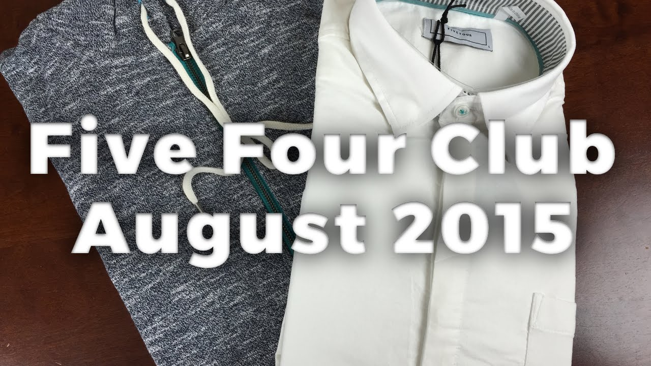 five four club august 2015 unboxing men 39 s clothing subscription review youtube. Black Bedroom Furniture Sets. Home Design Ideas
