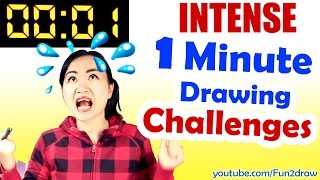 Art, Drawing, Challenge - 1 MINUTE to Beat REAL TIME
