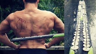 THUMBTACK NERF SWORD | Bodybuilder VS Most Dangerous Kid Toy Of All Time | Crazy Nerf Gun Challenge