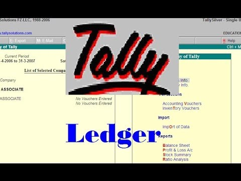 Tally- How to create Sundry Creditor Ledger in tallly