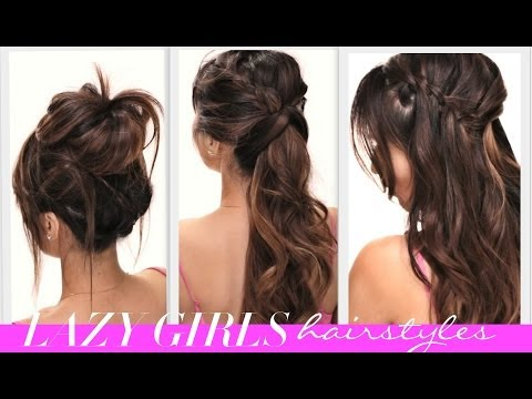 ★4 EASY Lazy Girls BACK-TO-SCHOOL HAIRSTYLES | CUTE HAIRSTYLE | BRAIDS + MESSY BUN