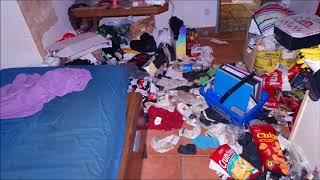 Mietnomade schläft auf Matratze mit Erbrochenem und lagert Urin im Zimmer ein