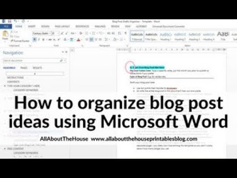 How to keep blog post ideas organized and color coded using Microsoft Word