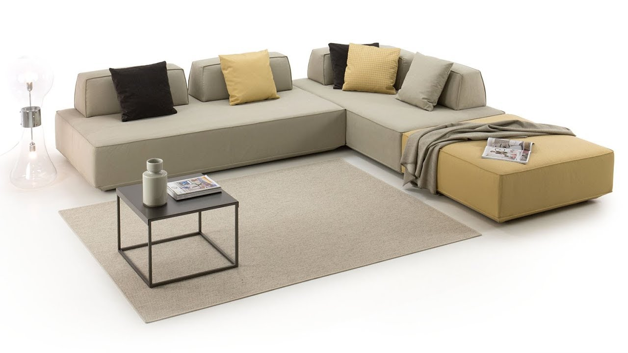 Prisma modular sofa system with movable backrests