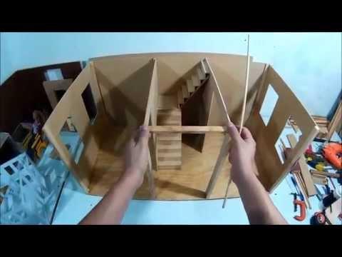 Como hacer nuestra casa de mu ecas parte 1 a youtube - Casa de munecas teatro ...