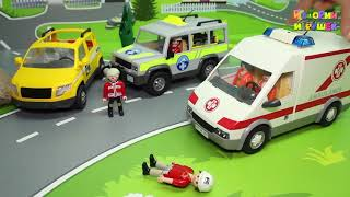 Мультики про машинки для детей с игрушками - Профессия спасателя! Развивающие игрушечные видео.