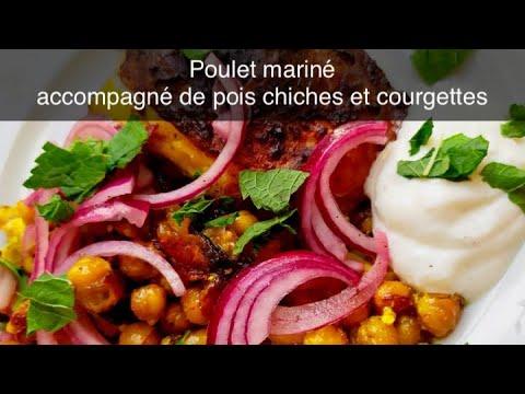 recette-poulet-mariné-avec-pois-chiches-et-courgettes