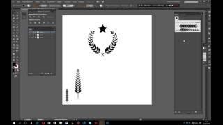 Урок Adobe Illustrator. Как нарисовать колосок , создать из него венок и кисть.