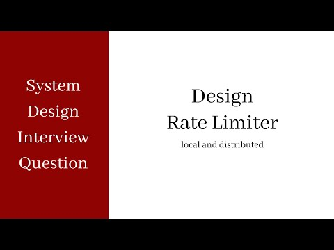 System Design Interview - Rate Limiting (local And Distributed)