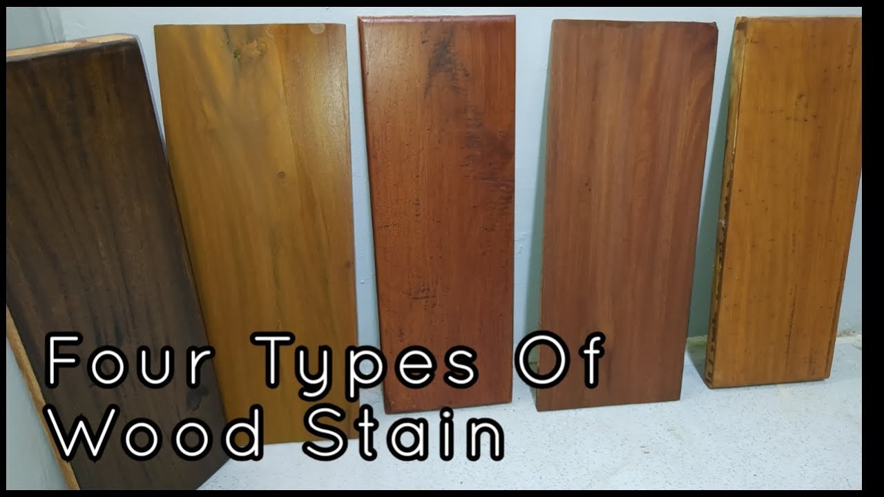 Four Types Of Wood Stain Tips For Beginners Step By Step Youtube