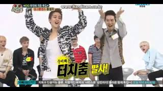 130814 EXO Weekly Idol Xiumin& Suho dance Sistar Give It To Me