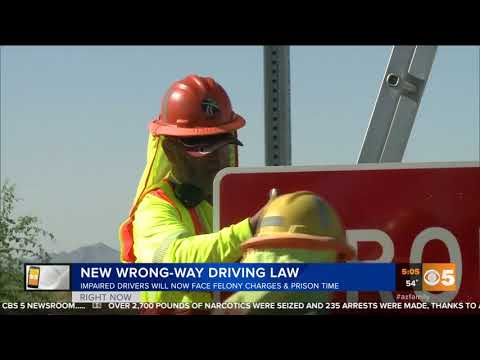 CBS 5: New Wrong-Way Driving Law