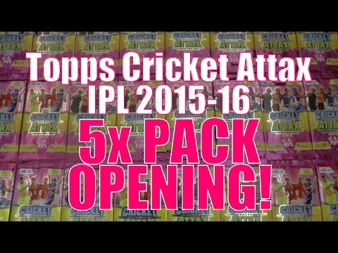 100 CLUB KUMAR! ☆ 5x PACK OPENING ☆ Topps CRICKET ATTAX Indian Premier League 2015-16 Trading Cards