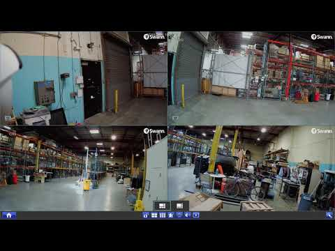 Swann DVR-5580 4K Security System Live View Icons & Controls