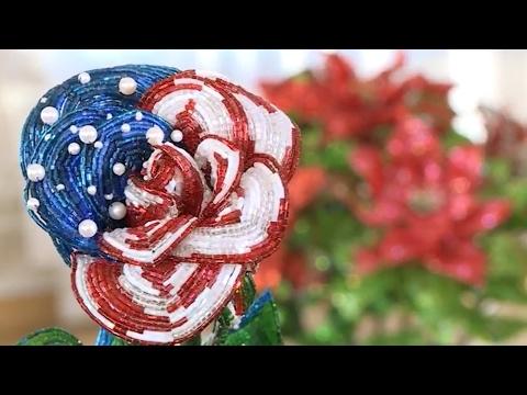 Цветок из бисера Бокаловидная роза