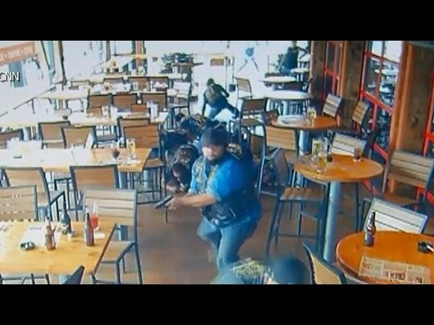 Dramatic video of deadly Texas biker gang shootout leaked