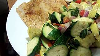 Salmon, Zucchini Summer Squash, Garlic, Fresh Basil 2/2 Chef John The Ghetto Gourmet