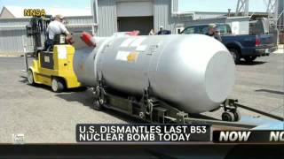 B53 Nuclear Bomb dismantled in Amarillo Texas