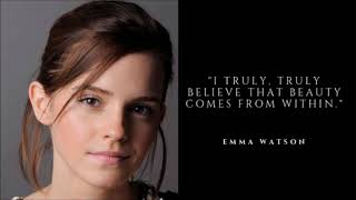 Inspirational Quotes of Emma Watson