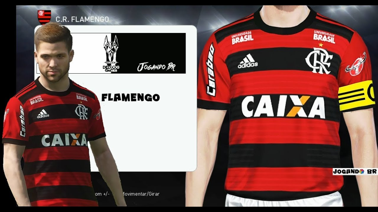 ed9492ed11 KIT - FLAMENGO ( PES 2018 ) UNIFORME