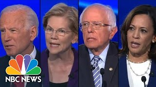 Candidates Pounce On Elizabeth Warren, Go After Trump At Democratic Debate | NBC News
