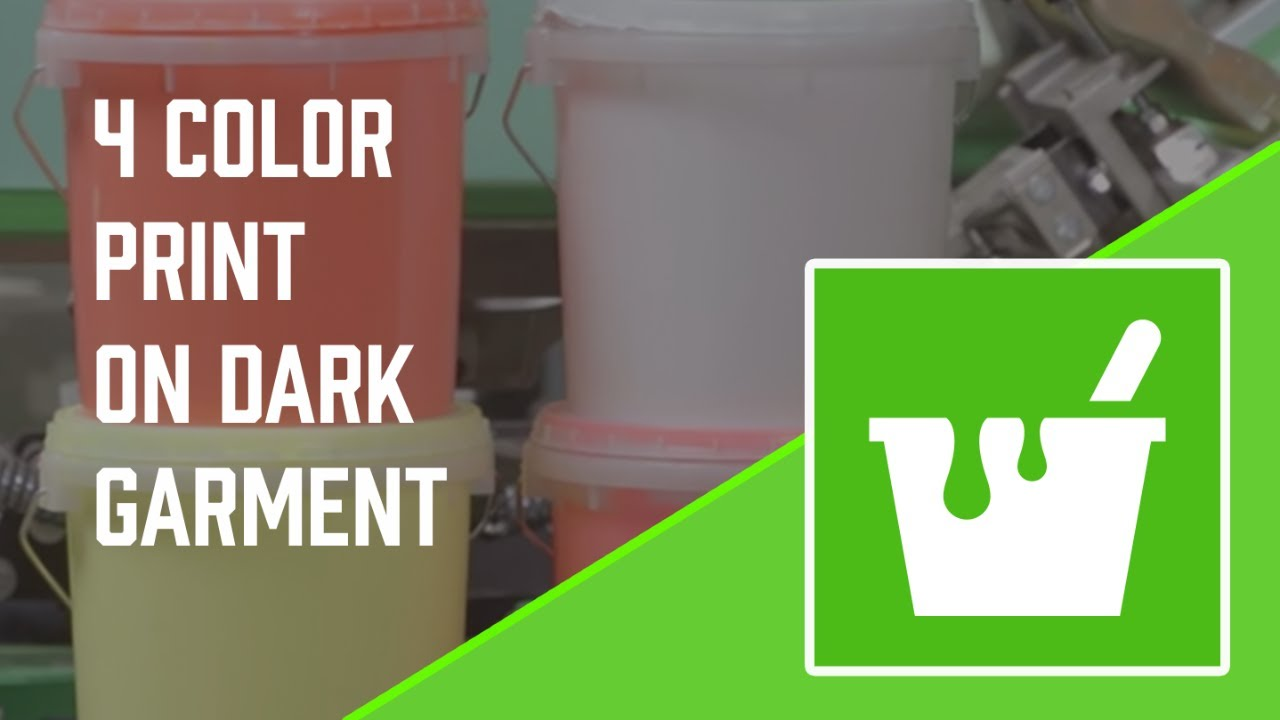 How To Screen Print 4 Colors Plastisol Ink on Dark Garments Using A Flash