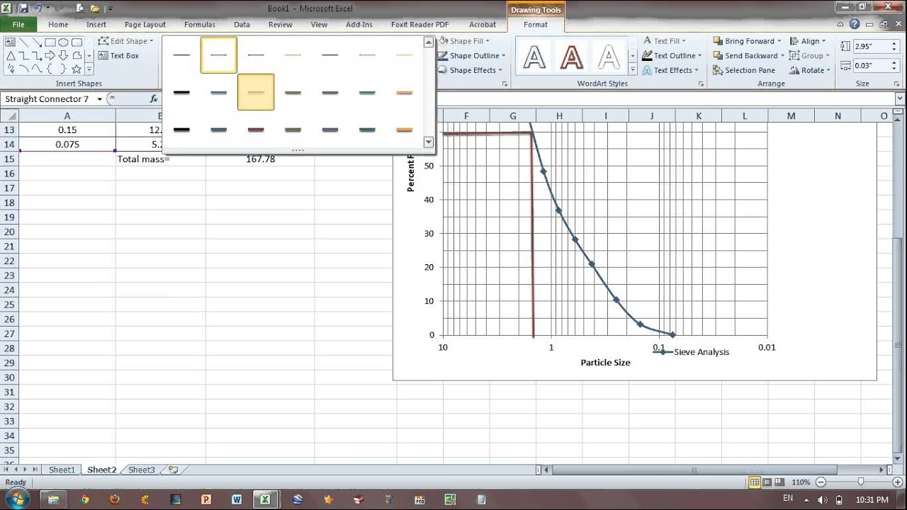 Video Excell for Sieve Analysis