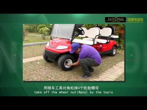 Hướng dẫn thay bánh xe ô tô điện LVTONG