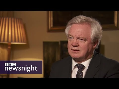 David Davis 'can live with' shorter EU transition - BBC Newsnight