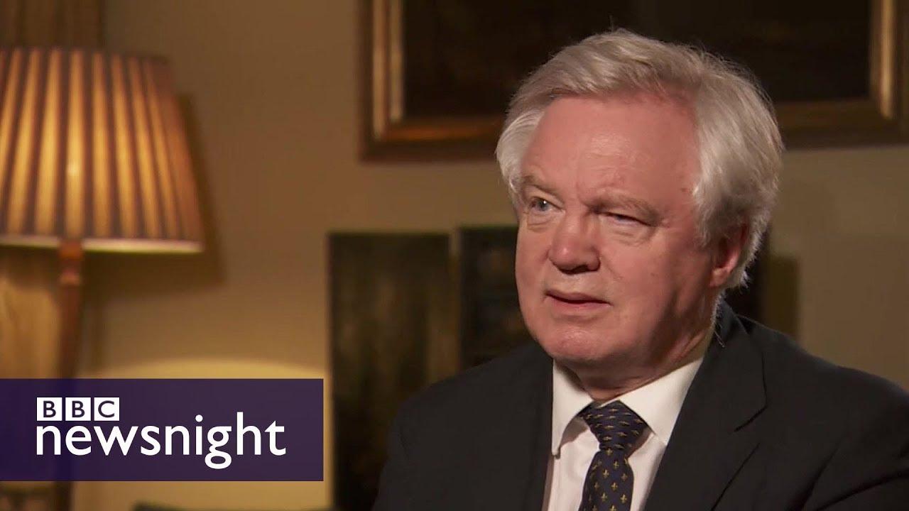 David Davis 'can live with' shorter EU transition - BBC Newsnight