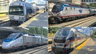 Amtrak, MARC & DOTX 216 at BWI Station