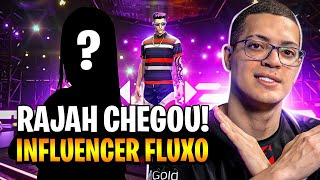 🔥 CHEGOU A NOVA INFLUENCER DO FLUXO! RAJAH ! FREEFIRE AO VIVO