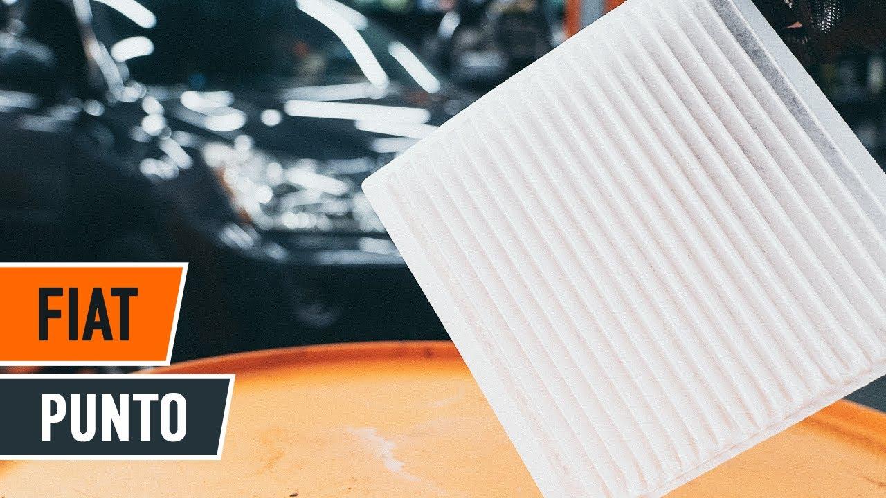 Wie FIAT PUNTO Innenraumfilter wechseln TUTORIAL  AUTODOC