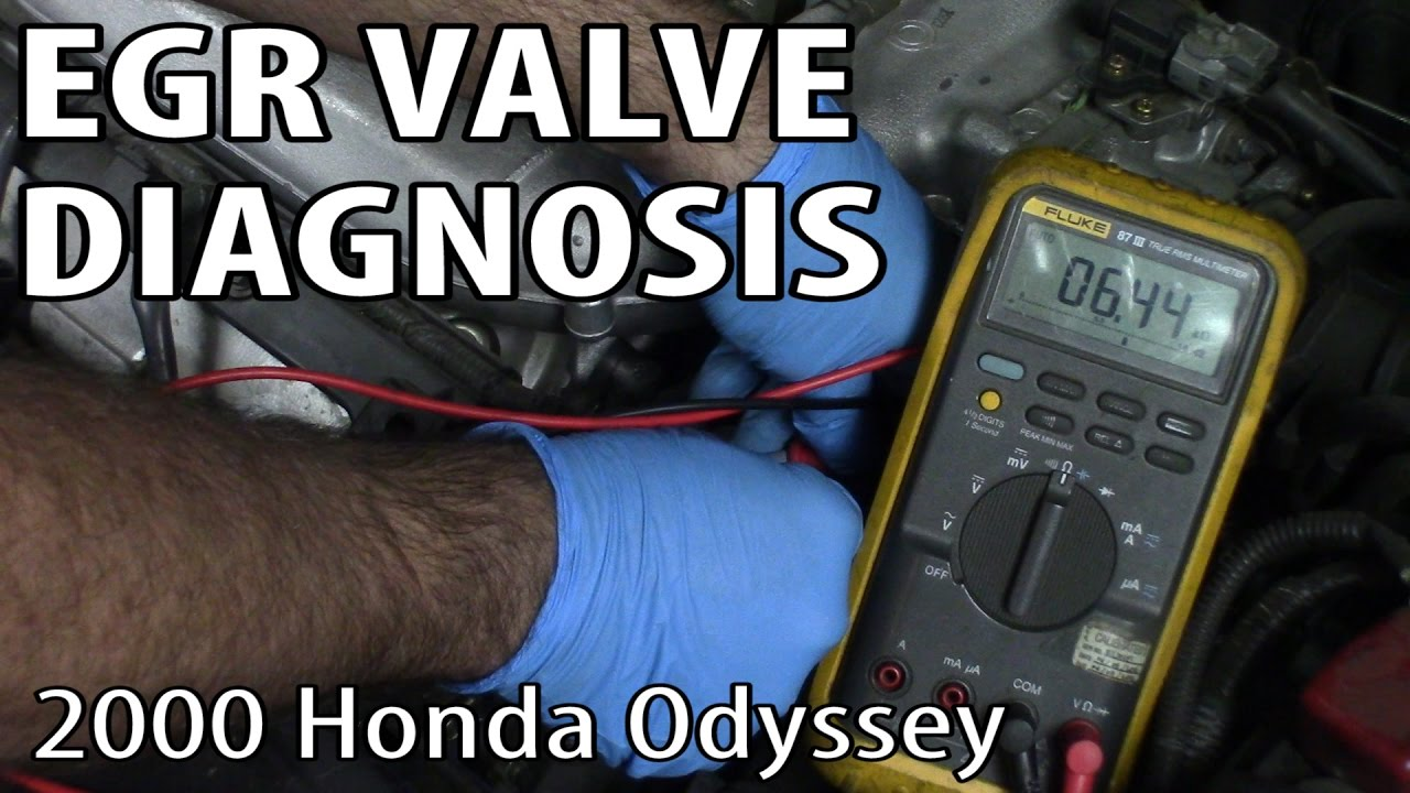 hight resolution of egr valve diagnosis and replacement on a 2000 honda odyssey