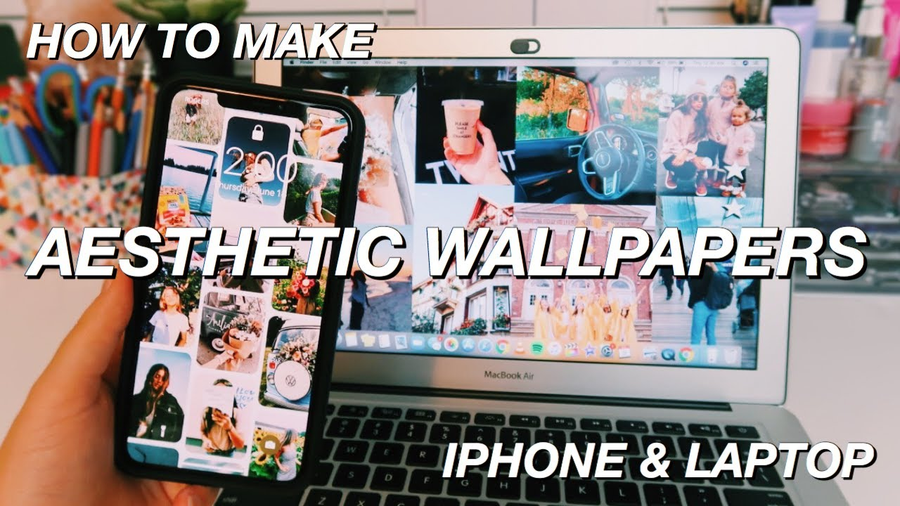 How To Make An Aesthetic Collage Wallpaper For Your Phone And Laptop Easy Youtube