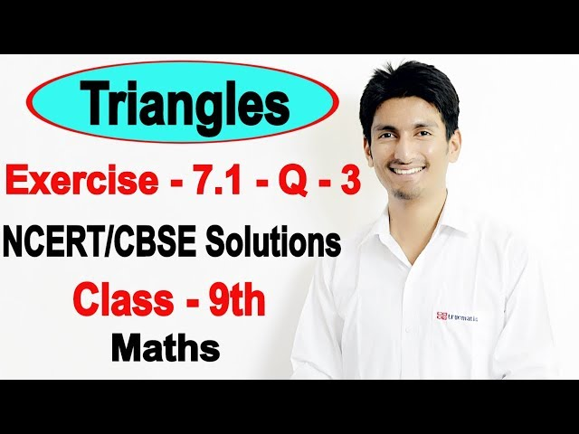 Chapter 7 Exercise 7.1 Question 3 - Triangles Class 9 Maths - NCERT Solutions
