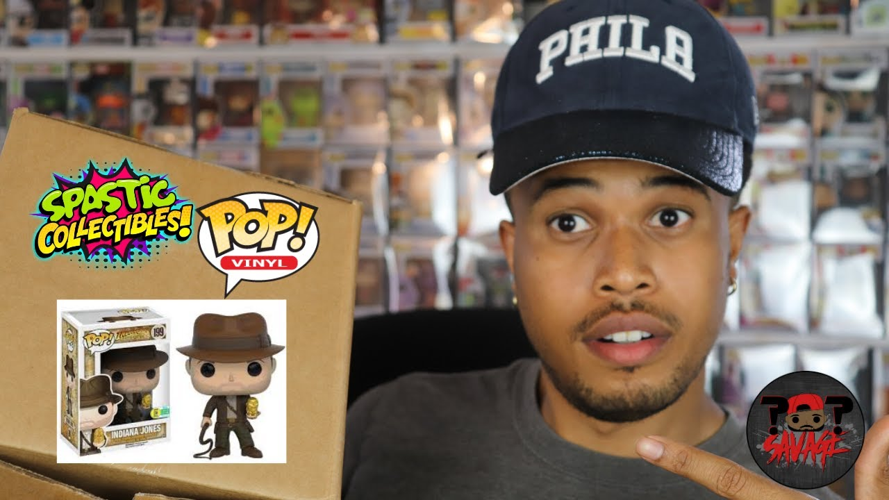 $60 Spastic Collectibles Funko Pop Mystery Box Unboxing   The Hunt for Indiana Jones!