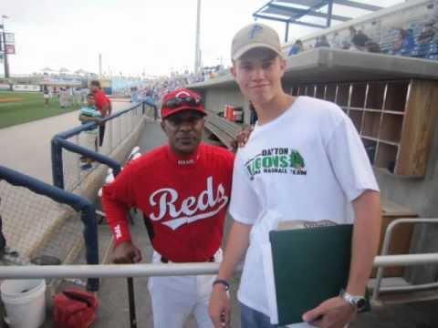 Cincinnati Reds Legend Eric Davis Signing Autographs At A Pensacola Blue Wahoos Game - 5/1/12