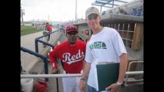 Cincinnati Reds Legend Eric Davis Signing Autographs At A Pensacola Blue Wahoos Game - 5/1/12