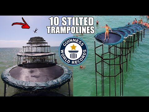 STILTED TRAMPOLINE STAIRCASE INTO THE OCEAN | JOOGSQUAD PPJT