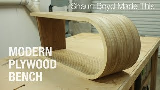 Building a MODERN Plywood Bench - Shaun Boyd Made This