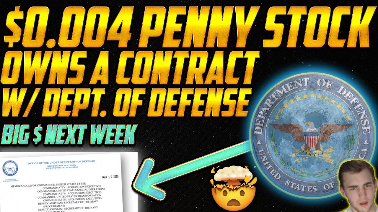 This $0.0044 Penny Stock OWNS a Contract w/ Department of Defense! Stocks BEFORE they POP 🔥😱🔥
