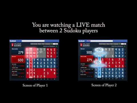 Challenger Sudoku - 2 player Real-Time Sudoku on Facebook is NOW here!