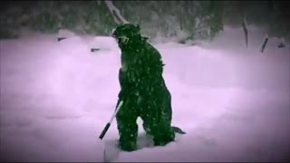 Why This Mom Dressed Up As Godzilla In Bikini To Shovel Snow thumbnail