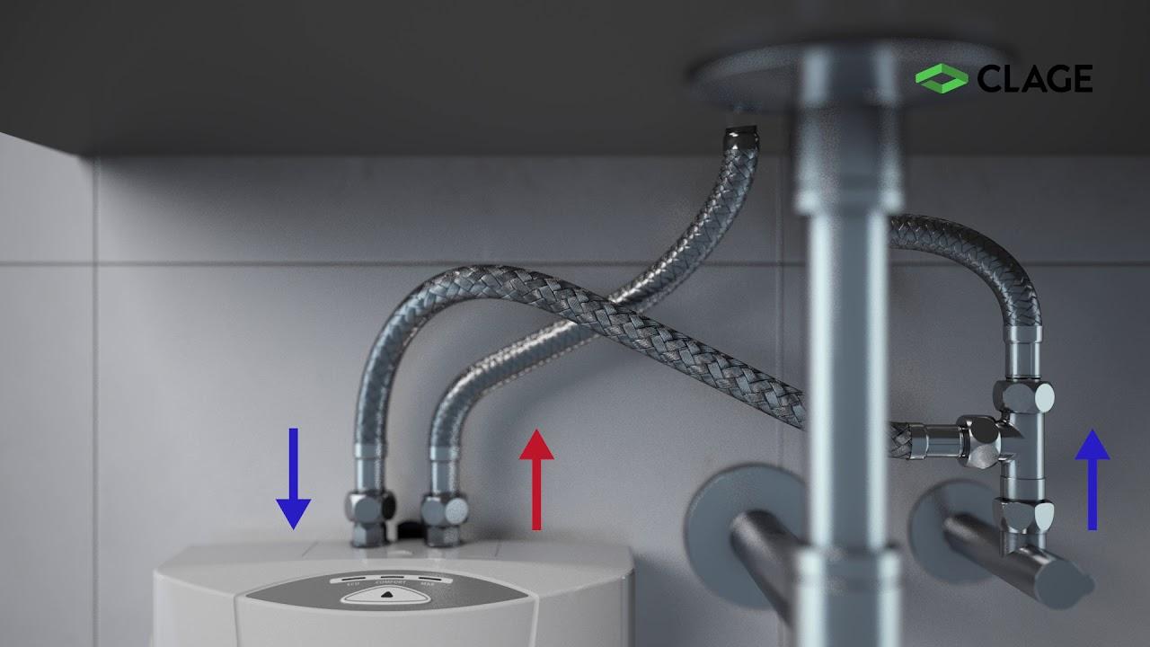 elektrický přípoj pro ohřívač teplé vody