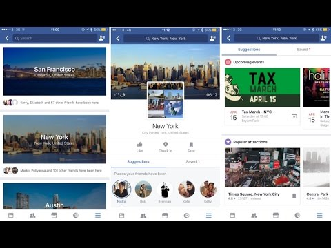 "Facebook adds a travel-planning feature : ""City Guides"""