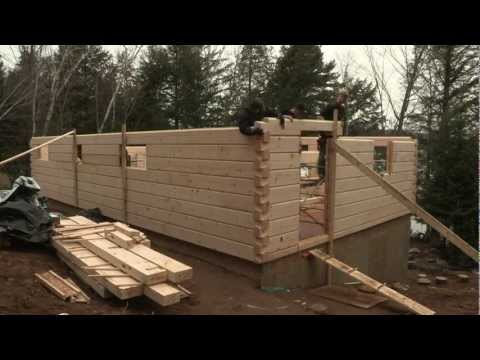 Discovery Dream Homes Log Assembly