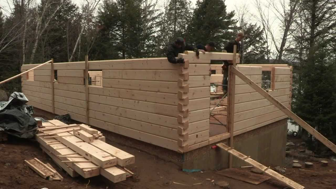 Discovery Dream Homes Log Assembly - YouTube