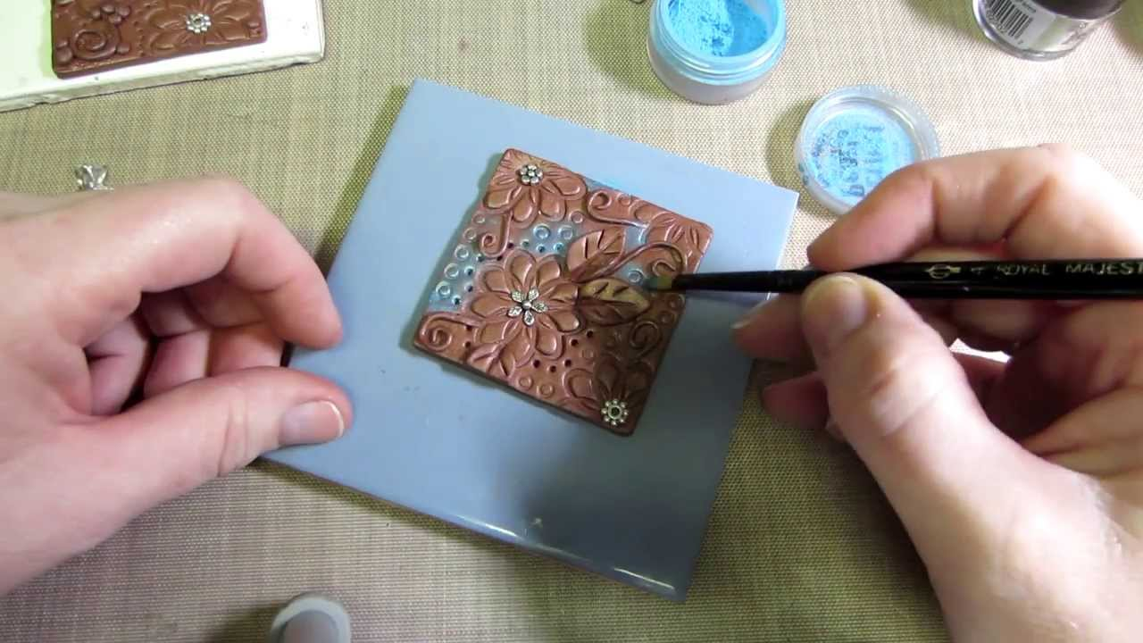 Clay art tile tutorial part 1 youtube for How to make ceramic painting