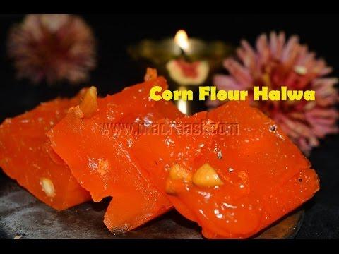 Corn Flour Halwa / Bombay Halwa / Karachi Halwa (Easy Halwa Recipe) | Madraasi